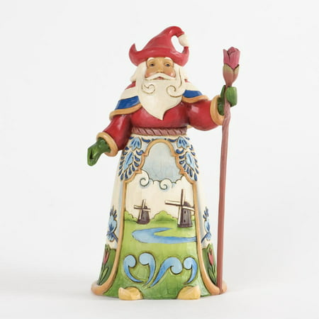 Christmas Santa Claus Figurine - Jim Shore Dutch Traditions Windmill Santa Claus Christmas Figurine 4034367 New