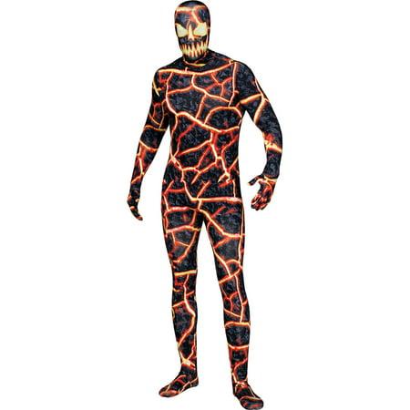 Demon Wolves Halloween (Adult's Mens Volcano Demon Erupto Bodysuit Costume Standard)