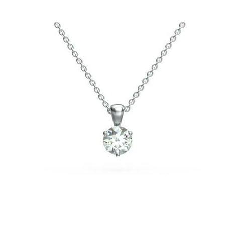Harry Chad Enterprises 19752 0.50 CT Solitaire Round Cut Diamond Pendant Necklace - 14K Gold - image 1 of 1