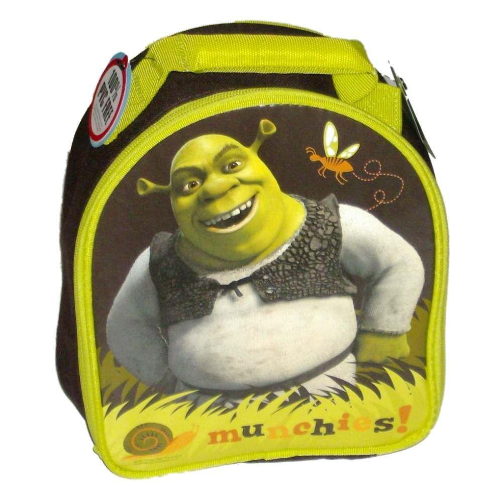 Shrek Burping Soft Lunch Box Insulated Bag Munchie Tote Green Ogre Burp Lunchbox