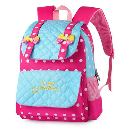 925bb4f2af VBIGER - Cute Kids Girls Boys School Bag Polkka Dots Bowknot Backpack Girls  Book Bag Travel Daypack Children School Backpacks - Walmart.com