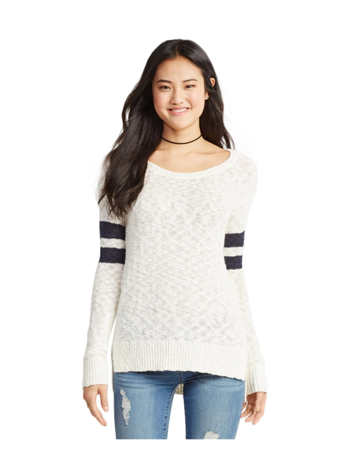 aeropostale juniors knit striped pullover sweater