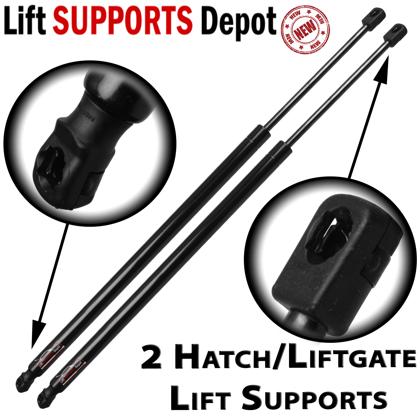 Qty (2) Fits VW Routan 2009 To 2014 Liftgate Lift Supports Struts With Power Gate - PM3478