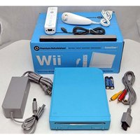 Refurbished Nintendo Wii Limited Edition Blue Video Game Console Home System RVL-101 GameCube