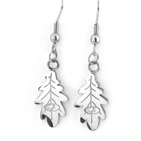 Mossy Oak Silver Leaf Earrings (Silver Oak Leaf Earrings)