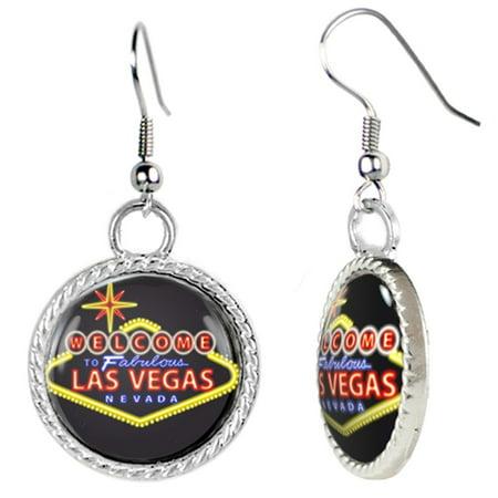 Las Vegas Nevada Neon Sign Earrings