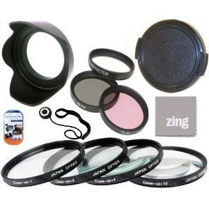 72mm Multi-Coated 7 Piece Filter Set Includes 3 PC Filter Kit (UV-CPL-FLD-) And 4 PC Close Up Filter Set (+1+2+4+10) For Panasonic Lumix G Vario 100-300mm F/4.0-5.6 OIS Lens + Lens Cap + Cap