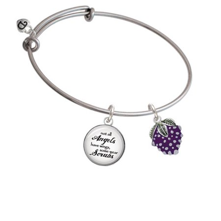 Angel Bracelet (Grapes Angels Wear Scrubs Bangle)