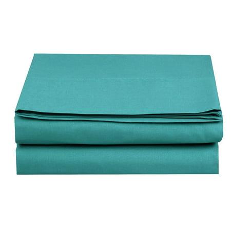 Flat Sheet ! - Elegant Comfort® Wrinkle-Free 1500 Thread Count Egyptian Quality 1-Piece Flat Sheet, King Size, Turquoise