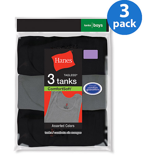 Hanes Boys' Underwear Dyed A Shirt 3 Pack