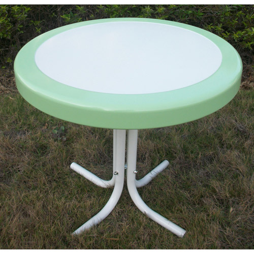 Retro Outdoor Dining Table, Multiple Colors