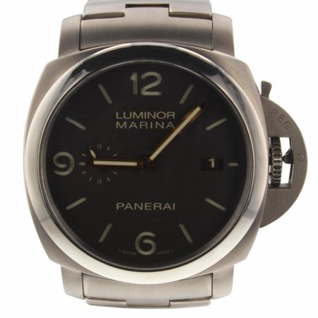 Panerai Marina - Pre-Owned Panerai Luminor Marina PAM00352 Titanium  Watch (Certified Authentic & Warranty)