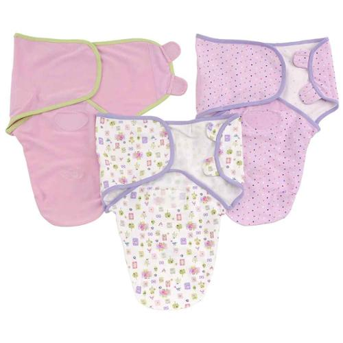 Summer Infant SwaddleMe Cotton Knit 3-Pack, Small/Medium, Who Loves You