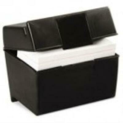 Oxford Plastic Index Card File, 400 Capacity, 6 1/2w x 4 7/8d, Black ()