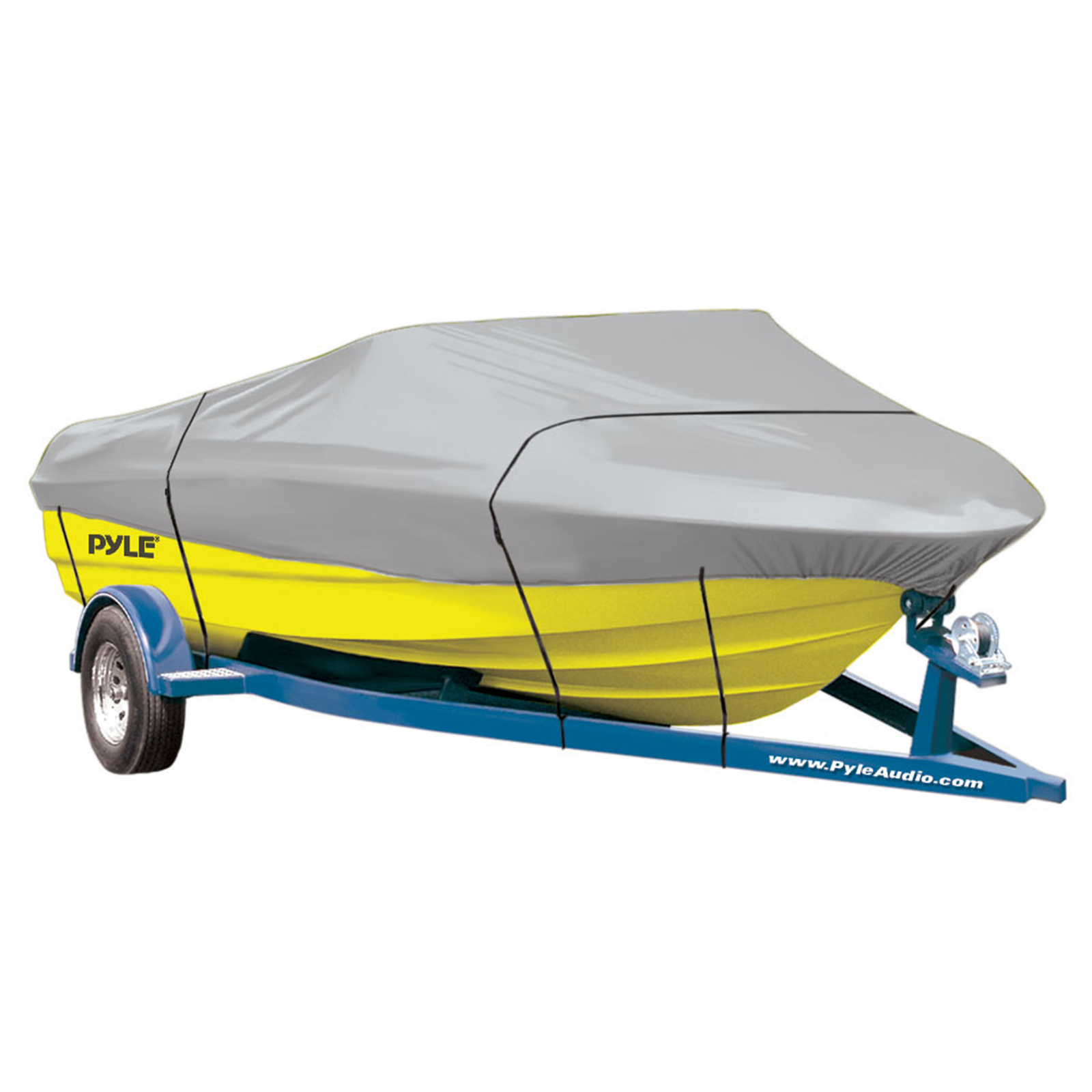 """Pyle Armor Shield Trailer Guard Boat Cover 20'-22'L Beam Width to 106"""" V-Hull Runabouts Outboards & I/O"""