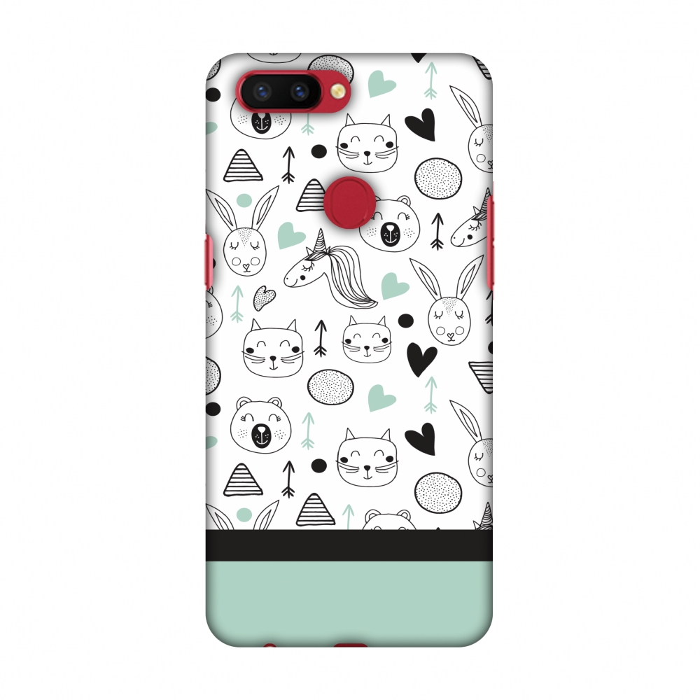 Oppo R11s Case, Premium Handcrafted Designer Hard Shell Snap On Case Printed Back Cover with Screen Cleaning Kit for Oppo R11s, Slim, Protective - Unicorns