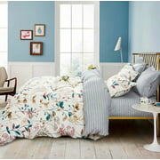 Swanson Beddings Autumn Floral 3-Piece Duvet Bedding Set: Duvet Cover and Two Pillow Shams (King)