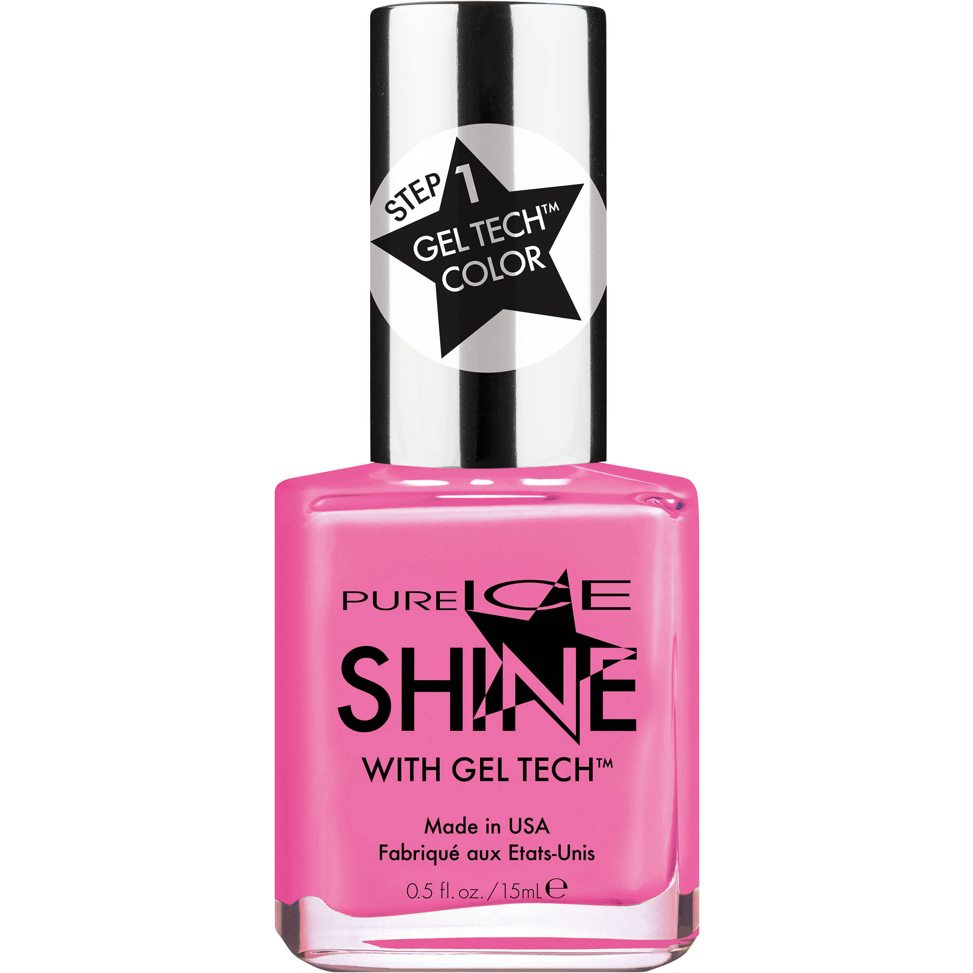 Pure Ice Shine with Gel Tech Nail Polish, Sleek Peek, 0.5 fl oz