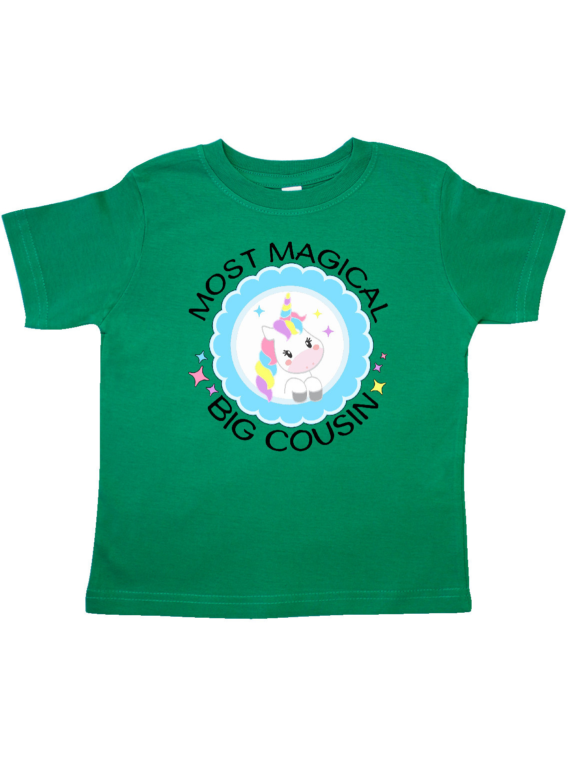 Cute Unicorn Toddler T-Shirt inktastic Most Magical Big Cousin