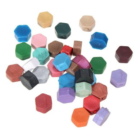 35Pcs Sealing Wax Beads Wax Seal Stamp Wedding Invitation Stationer Colorful (Sealing Wax Stamp B)