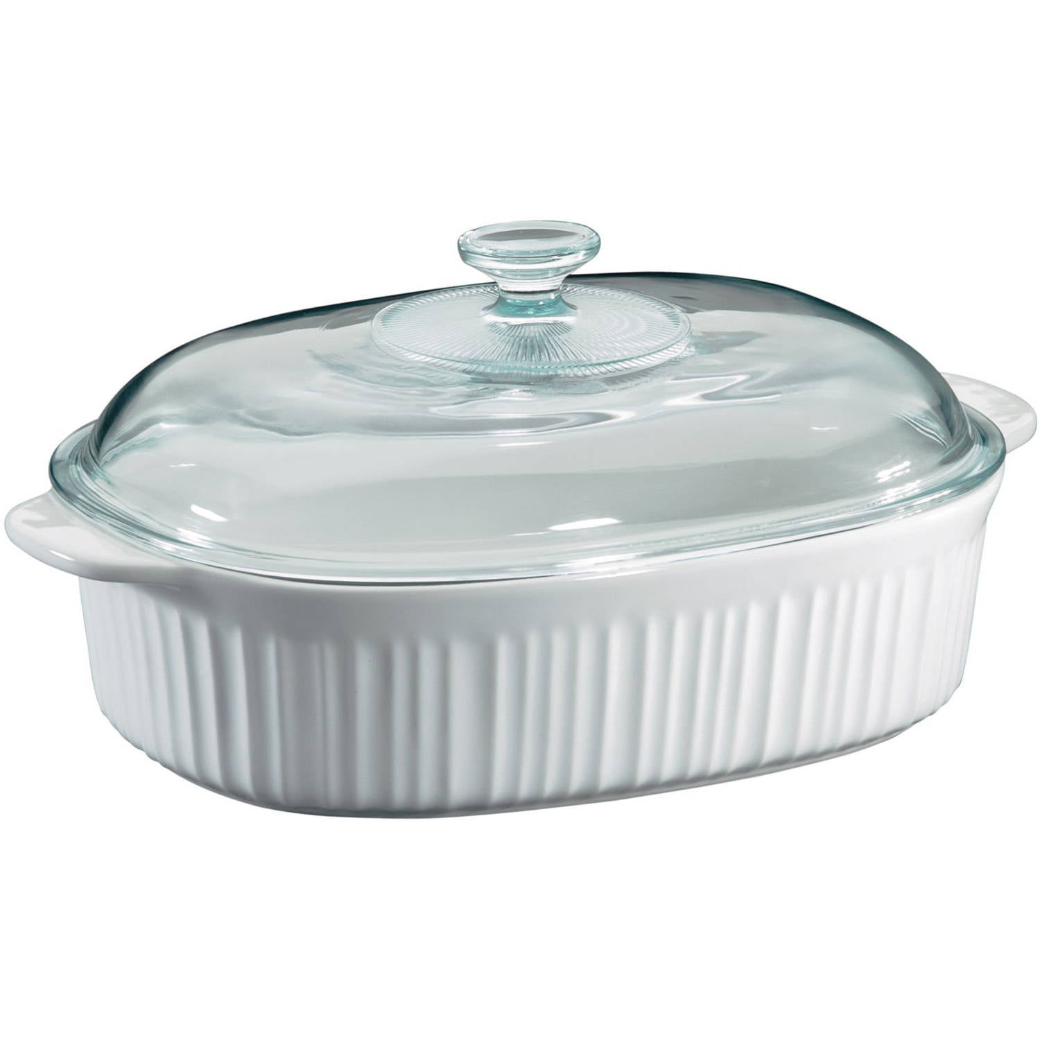 Corningware French White 4 Quart Oval Casserole With Glass