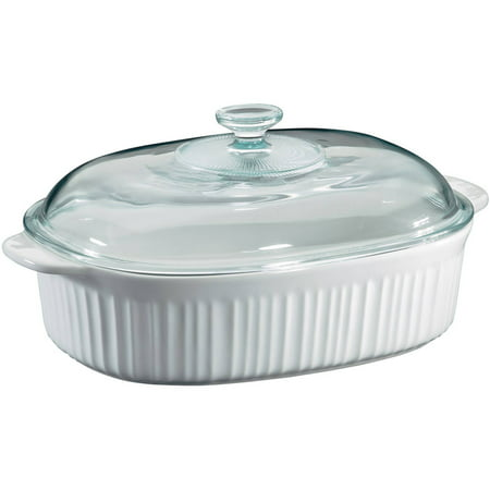 Bia Cordon Bleu Oval Casserole (Corningware French White 4 Quart Oval Casserole with Glass Cover )