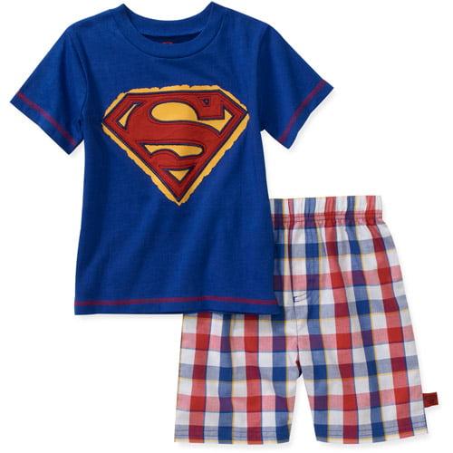 Baby Boys' Superman 2-Piece Tee and Plain Short Set