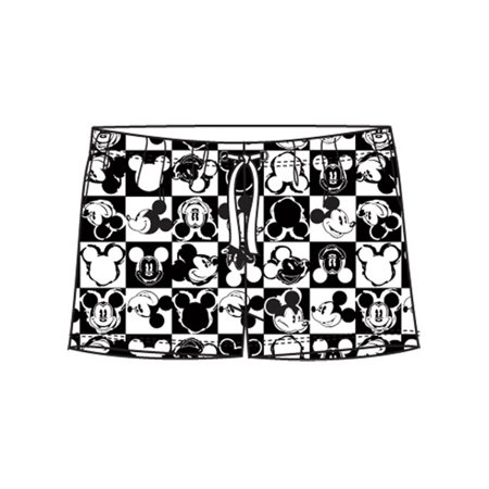 Disney Women's Checkers Mickey Mouse Small Pajama Shorts - Disney Adult Onesie