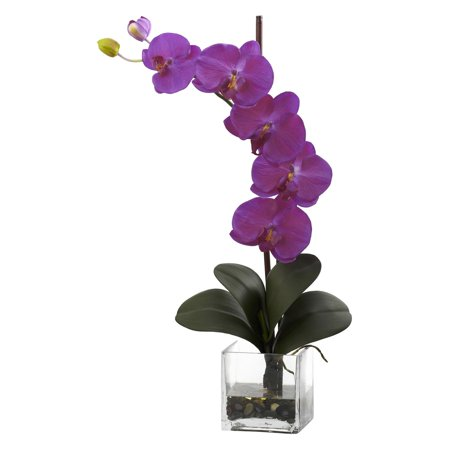 Nearly Natural Giant Phalaenopsis Orchid with Vase Arrangement, Orchid