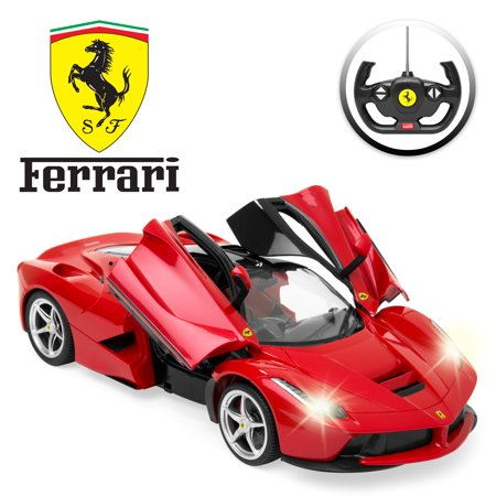 Best Choice Products 27 MHz 1/14 Scale Kids Officially Licensed Ferrari Model Remote Control Play Toy Car w/ Functioning Headlights, Taillights, Opening Doors, 5.1 MPH Max Speed - (Heli Max Tail)