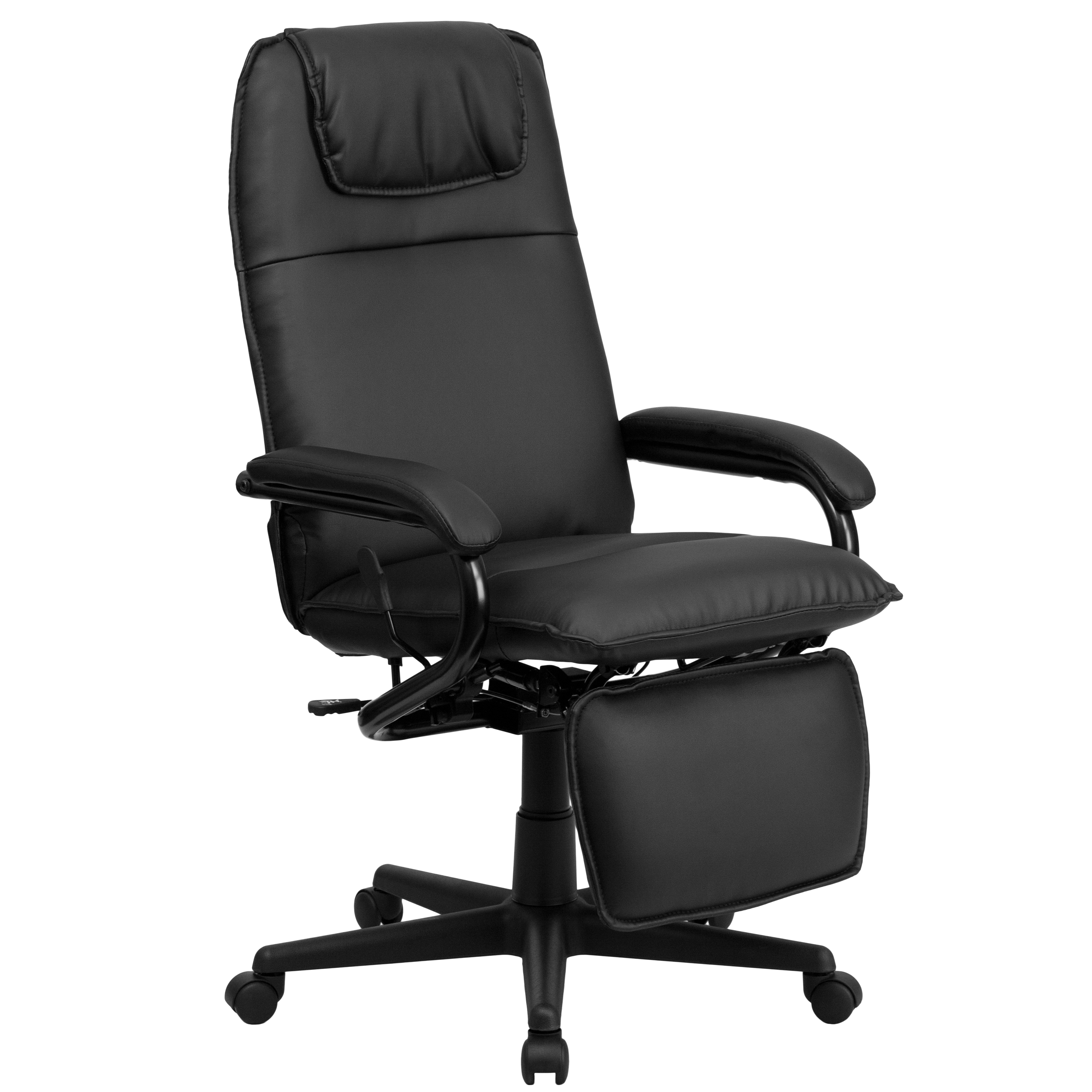 Delicieux Flash Furniture High Back Leather Executive Reclining Office Chair    Walmart.com