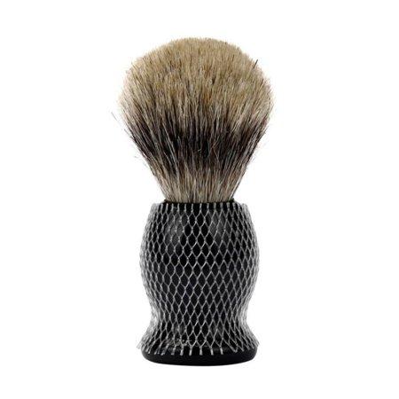 Pure Badger Hair Shaving Brush With Resin Stand For Men all Skin Types ()