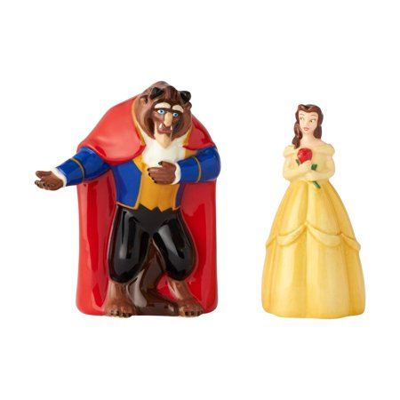 Enesco Disney Belle And The Beast 6001015 Salt And Pepper Shakers