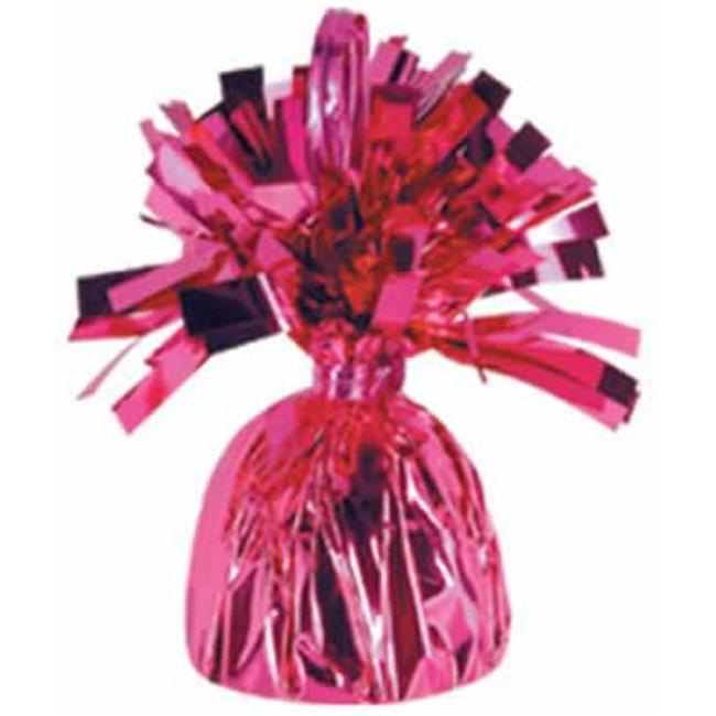 Metallic Wrapped Balloon Weights - Cerise- Pack of 12