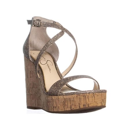 deff39adfec0 Jessica Simpson Stassi Ankle Strap Wedge Sandals