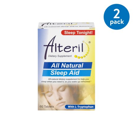 60 Caps Supplement Pills - (2 Pack) Alteril All Natural Dietary Supplement Sleep Aid Pill With L-Tryptophan - 60 CT
