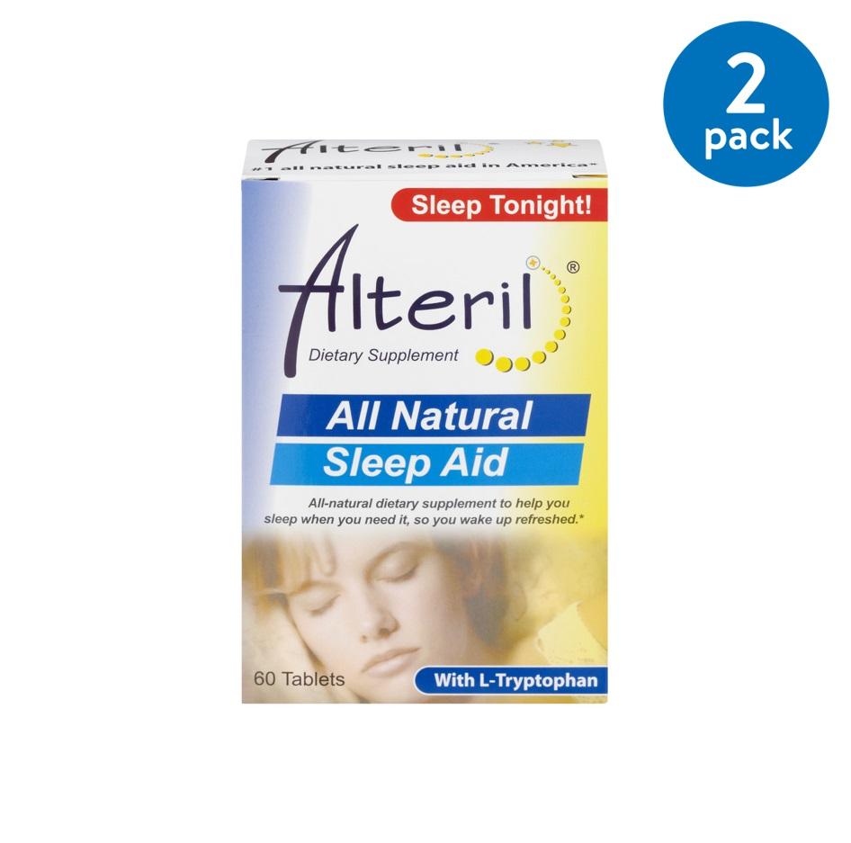 Alteril All Natural Dietary Supplement Sleep Aid Pill With L-Tryptophan - 60 CT