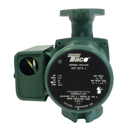 Tyco Life - Taco 007 BF5-J Pump Outdoor Wood Boiler Furnace Better then 007-F5 & same HBF5-J