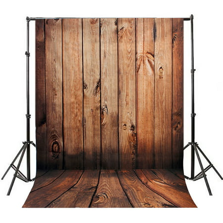 NK HOME Studio Photo Video Photography Backdrops 5x7ft Rugged Wood Planks Printed Vinyl Fabric Background Screen - Backdrop Fabric