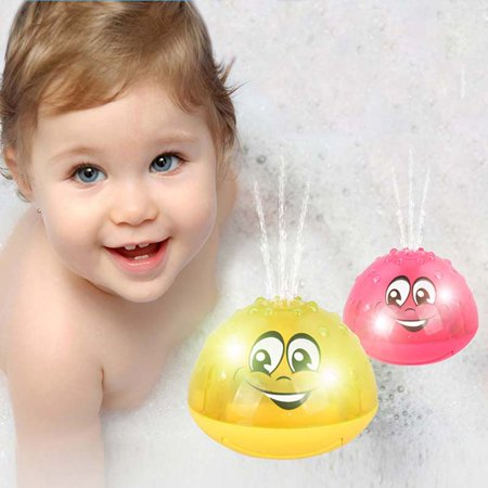 Fymall Baby Spray Water Bath Toy,Automatic Induction Sprinkler Water Pump Sprayer Drifting Rotate Toy