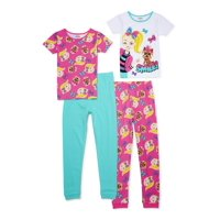Jojo Siwa Girls Tight Fit Pajamas, 4-piece Set, Sizes 4-16