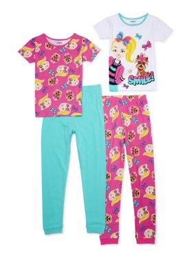 Jojo Siwa Girls Tight Fit Pajamas, 4-piece Set, Sizes 4-16