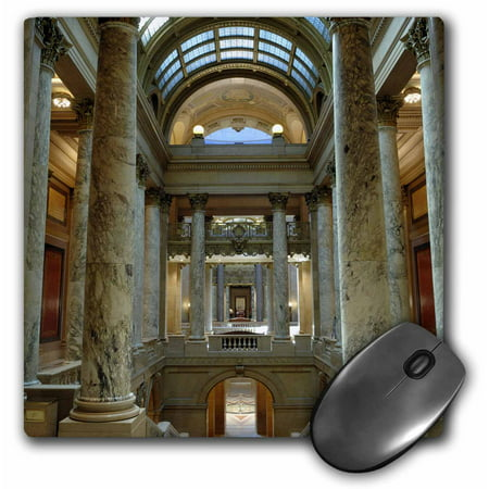 3dRose State Capitol Building, St Paul, Minnesota - US24 KRS0000 - Keith and Rebecca Snell, Mouse Pad, 8 by 8 inches