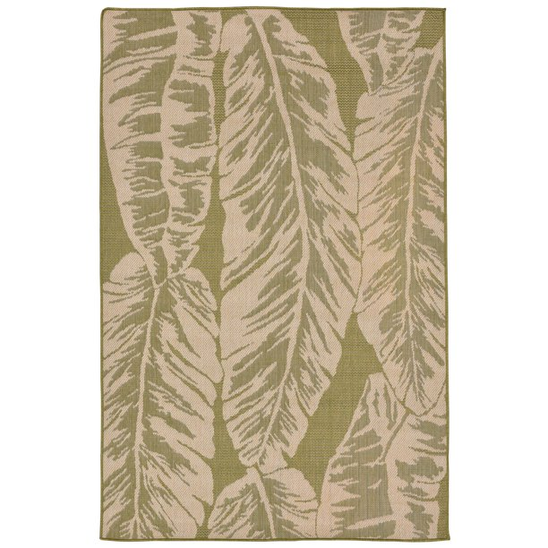Banana Leaf Indoor Outdoor Rug Green