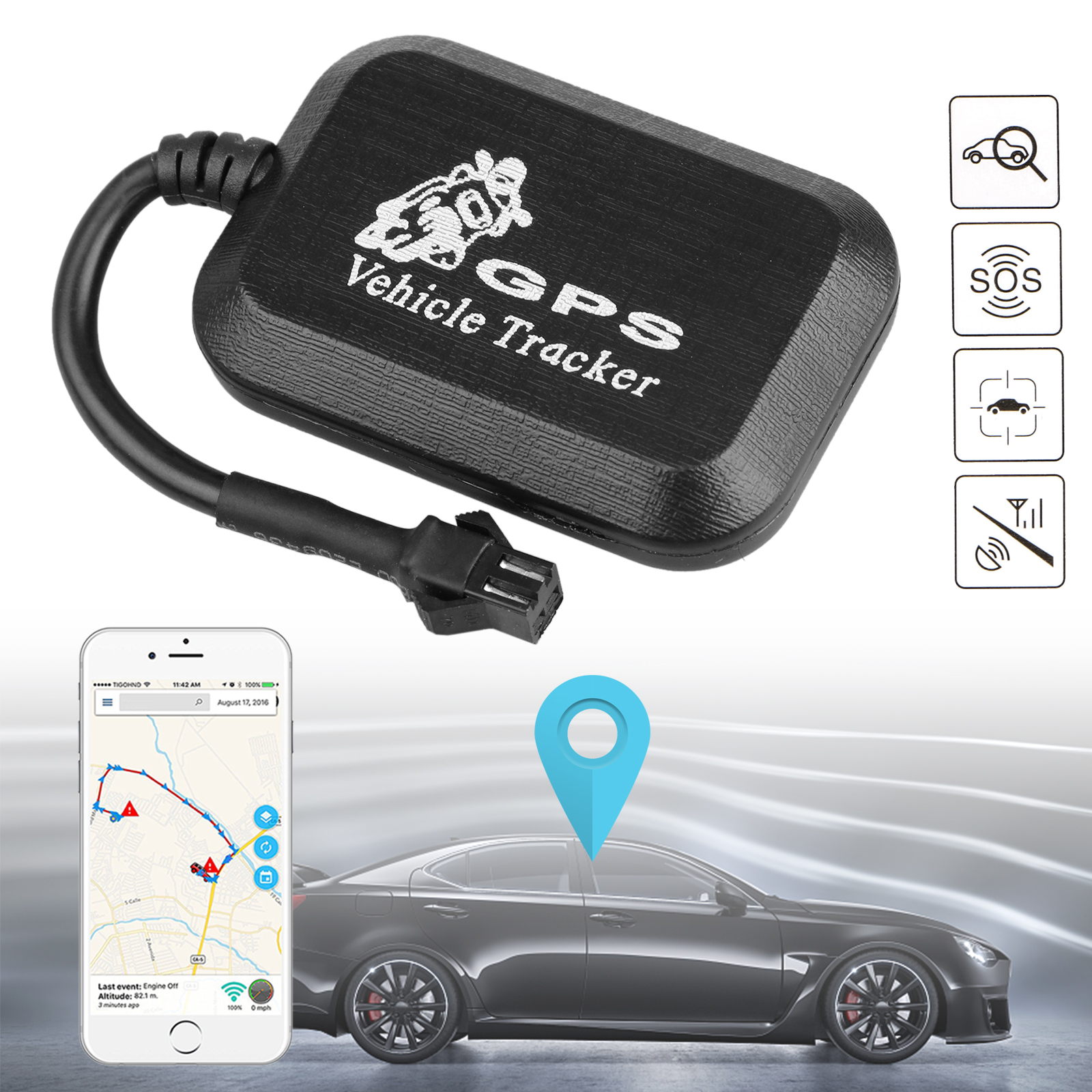 EEEkit Real Time GT005gps GPS Tracker GSM/GPRS Tracking Device Tool for Car Vehicle Motorcycle