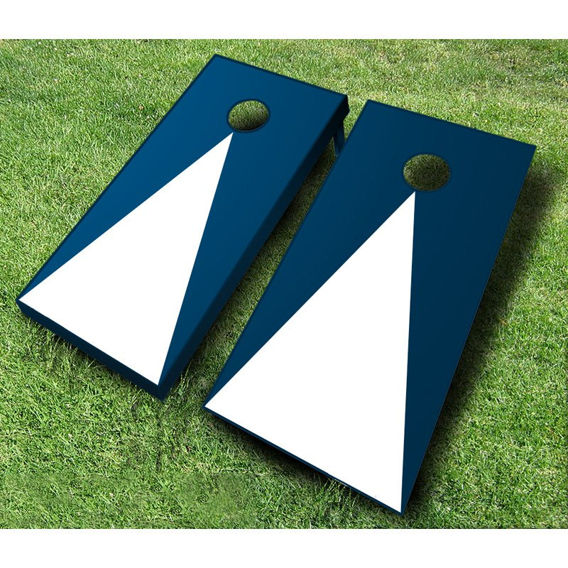 Pyramid Tournament Wooden Bean Bag Toss Set - Navy Blue - Maroon & Brown
