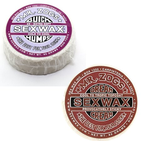 Sex Wax Quick Humps Surf Wax Pack Of 2  2X And Dream Cream Bronze