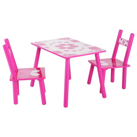 Astounding Topincn Childrens Wooden Table And Chair Set Kids Childs Studying Painting Home School Childs Studying Table And Chair Set Wooden Table And Chair Alphanode Cool Chair Designs And Ideas Alphanodeonline