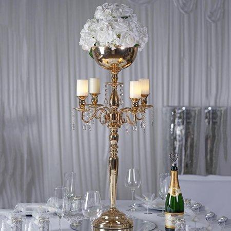 BalsaCircle 36-Inch tall Metal Candelabra Candle Holder Centerpiece - Tall Halloween Candelabra