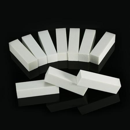 - 10pcs White Nail Art Buffer Files Nail File Block Pedicure Manicure Buffing Sanding Polish Nail Tools